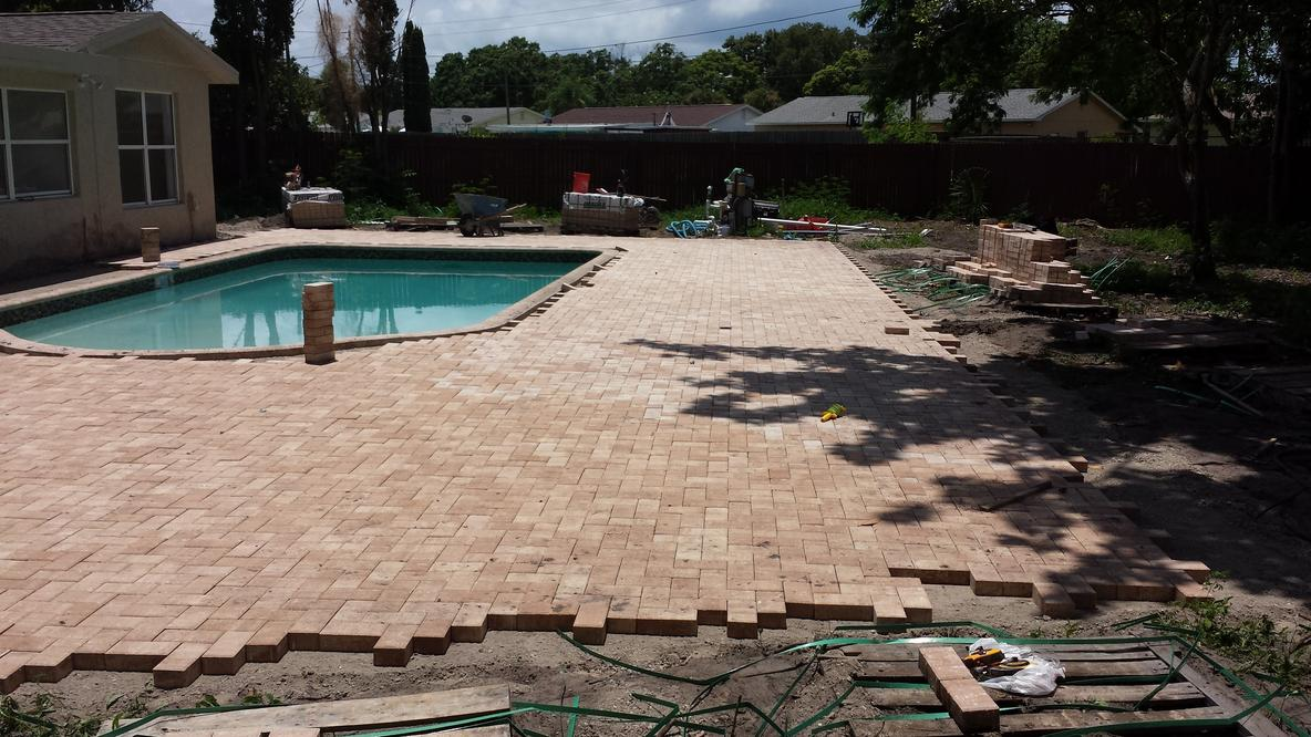 Premier flagstone pavers tampa oliveira pavers Flagstone pavers around pool